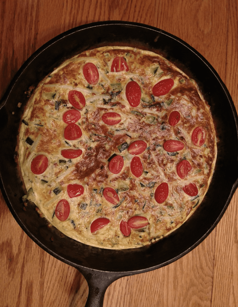 How to make a pizza on an iron Skillet