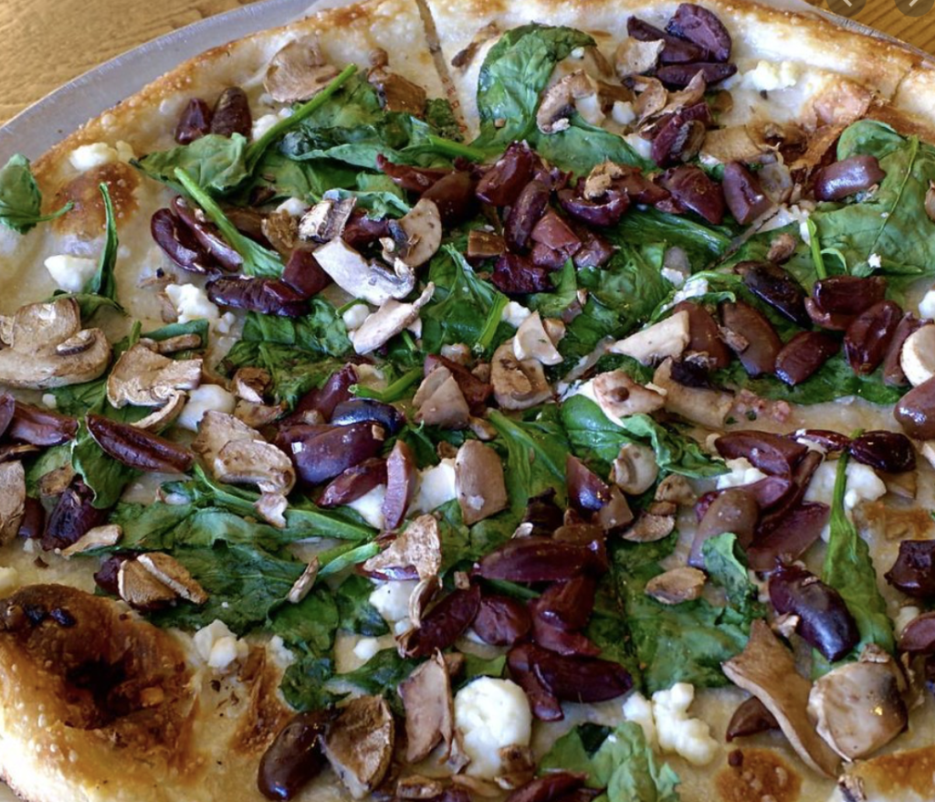 Mushroom Spinach White Pizza Recipe