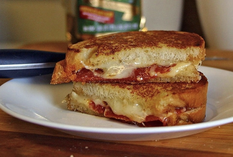 White Pizza Grilled Cheese Sandwich Recipe